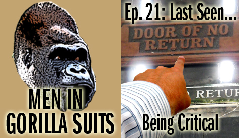 Image: Finger pointing. Men in Gorilla Suits Episode 21: Last Seen...Being Critical