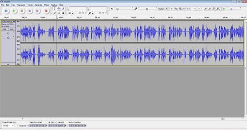 Men in Gorilla Suits episode in Audacity.