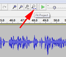 Fit Project in Audacity