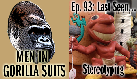 Offensive Native American figure soptted in an antique shop: Men in Gorilla Suits Ep. 93: Last Seen…Stereotyping