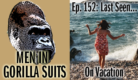 A woman splashed by ocean waves - Men in Gorilla Suits Ep. 152: Last Seen…On Vacation
