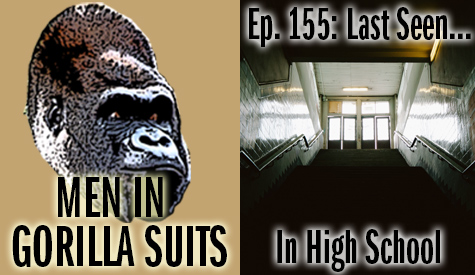 Dark stairs in a high school - Men in Gorilla Suits Ep. 155: Last Seen…In High School
