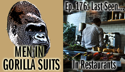 Man behind the counter in a restaurant - Men in Gorilla Suits Ep. 176: Last Seen…In Restaurants