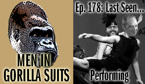 Cheesy Photoshop art of Christopher and Shawn dancing - Men in Gorilla Suits Ep. 178: Last Seen…Performing