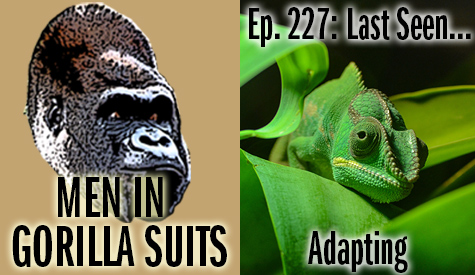 Green chameleon on green leaves - Men in Gorilla Suits Ep. 227: Last Seen…Adapting