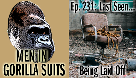 Beat-up office chair with frayed rope - Men in Gorilla Suits Ep. 231: Last Seen…Being Laid Off