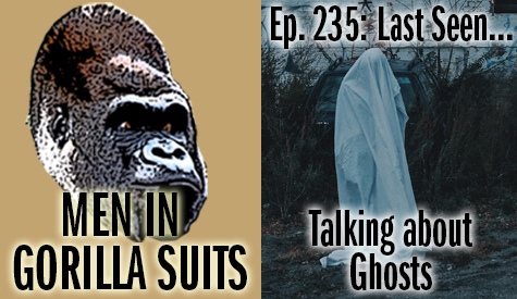 A person with ghost sheet over their head - Last Seen...Talking about Ghosts – MiGS Ep. 235